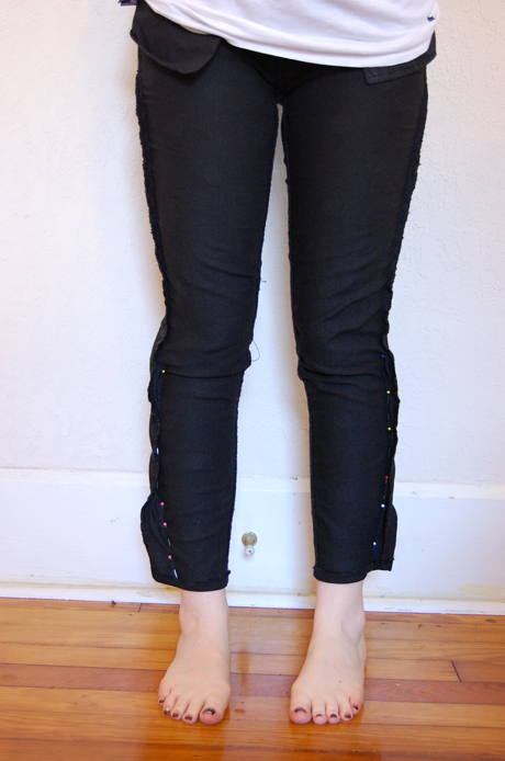 skinny jeans alteration