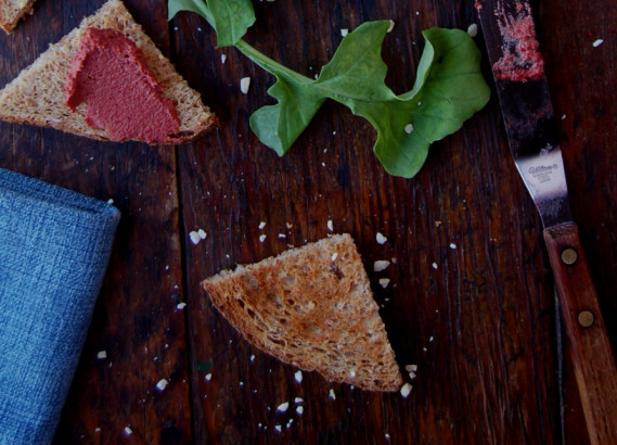 Beet, Fenned and lime pate