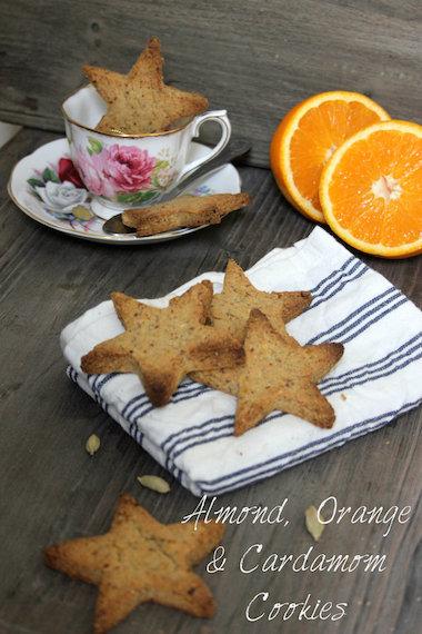 Gluten-free + Vegan Recipe | Almond, Orange + Cardamom Cookies